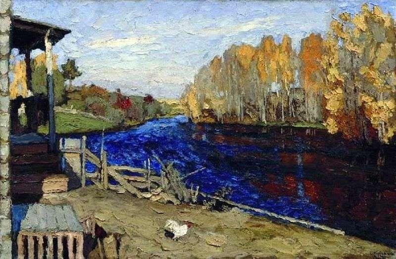 Autumn (By the pond) by Stanislav Zhukovsky