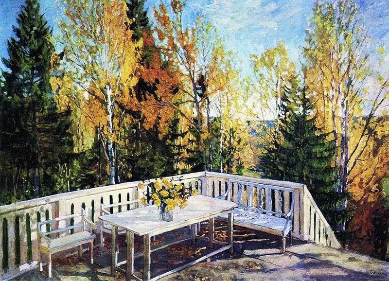 Autumn. Veranda by Stanislav Zhukovsky