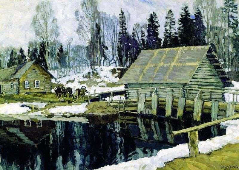 The dam by Stanislav Zhukovsky
