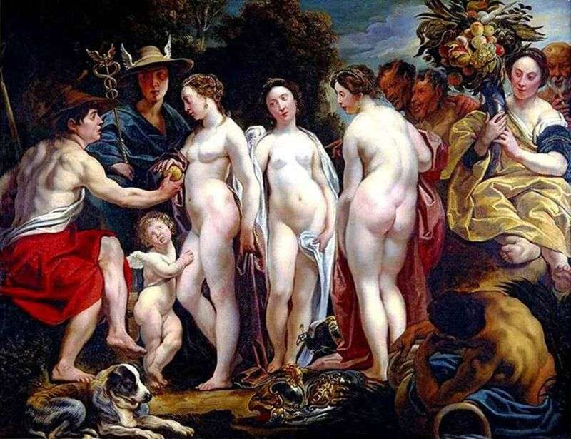 The choice of Paris by Jacob Jordaens