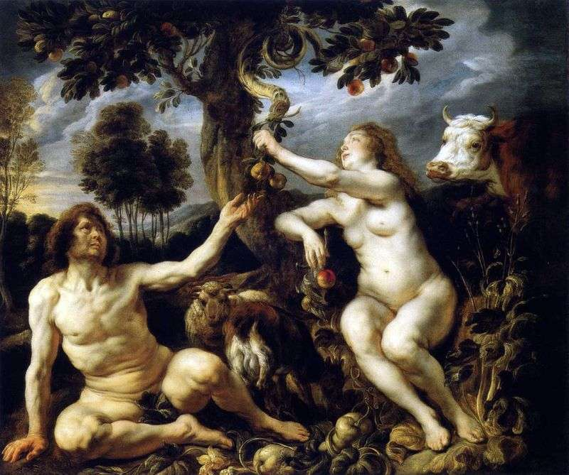 The Temptation of Adam and Eve by Jacob Jordaens