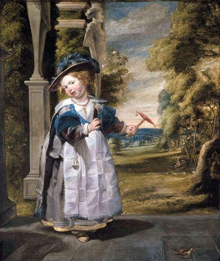 Portrait of the artists daughter by Jacob Jordaens