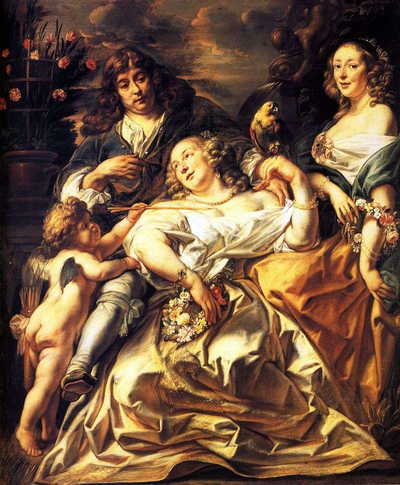 Family portrait by Jacob Jordaens