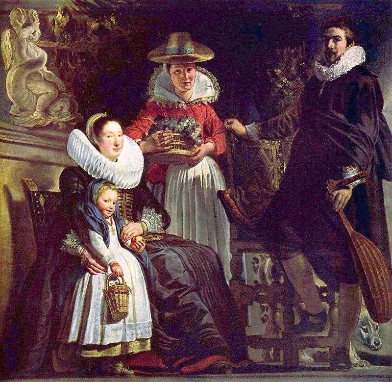 Yordans Family in the Garden by Jacob Jordaens