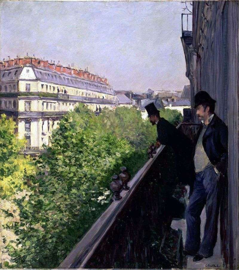 Balcony by Gustave Caillebotte
