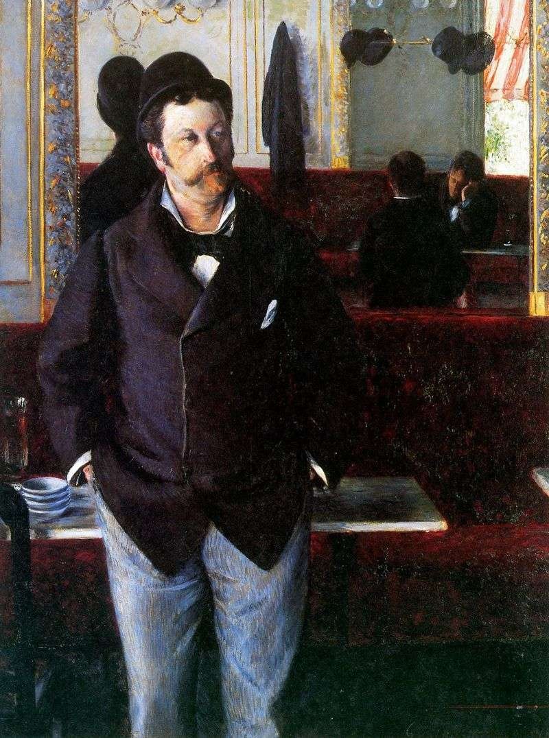 In the cafe by Gustave Caillebotte
