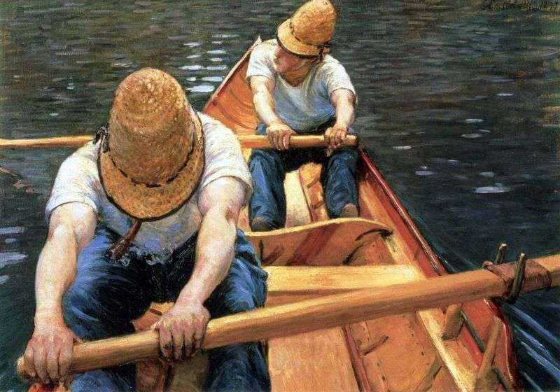Rowers by Gustave Caillebotte