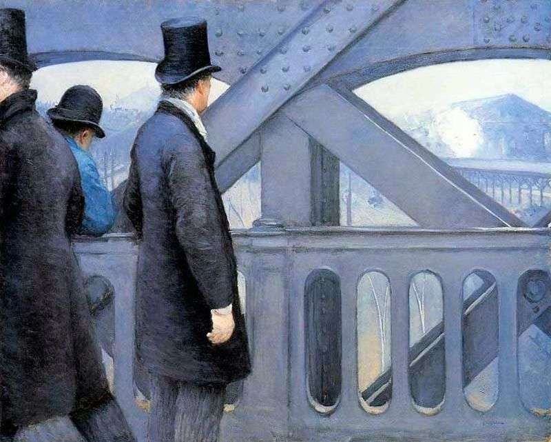 On the bridge of Europe by Gustave Caillebotte