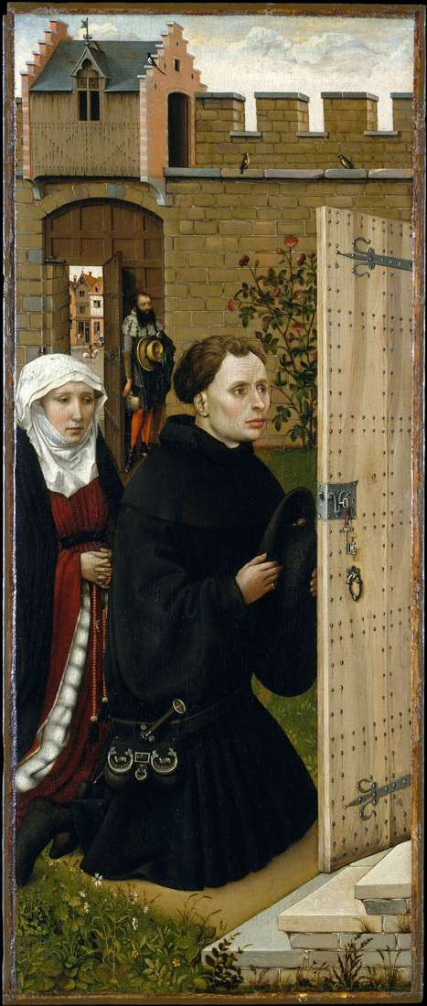 Triptych of Merode. Left wing by Robert Kampen