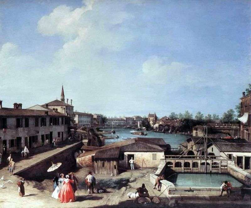 Dolo on the Brenta Canal by Antonio Canaletto