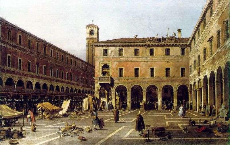 Campo di Rialto by Antonio Canaletto