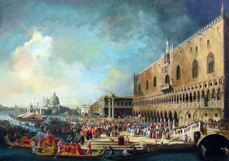 Reception of the French ambassador in Venice by Antonio Canaletto