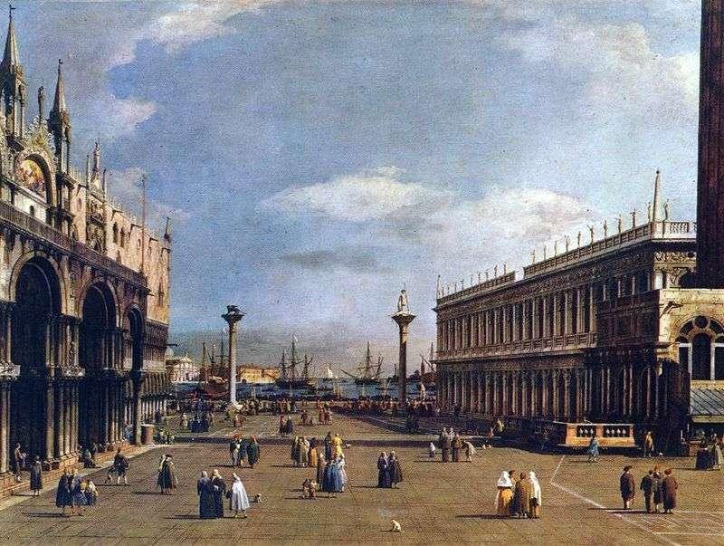 Piazzetta by Antonio Canaletto