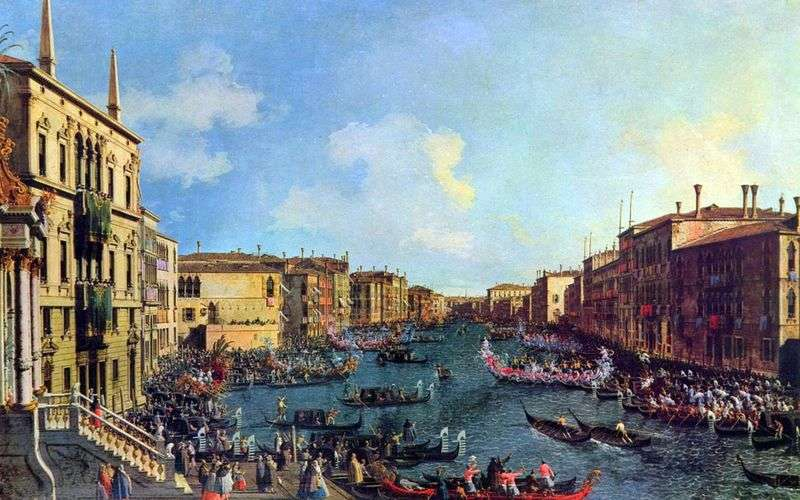 Regatta on the Grand Canal by Antonio Canaletto