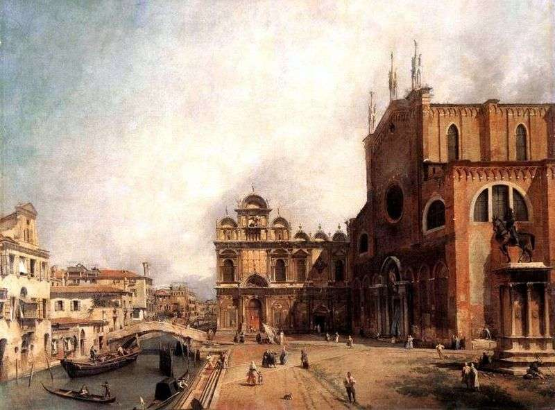 Cathedral of San Giovanni e Paolo and Piazza San Marco by Antonio Canaletto
