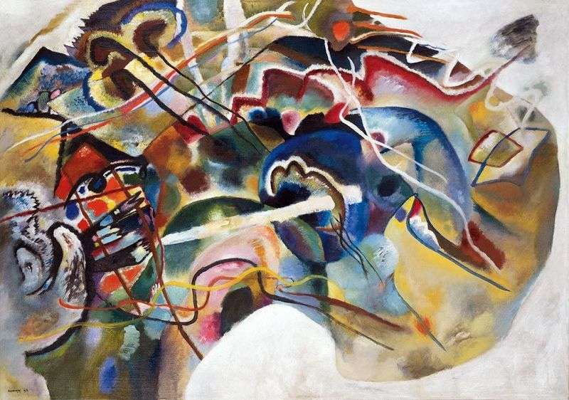 Picture with a white border by Vasily Kandinsky