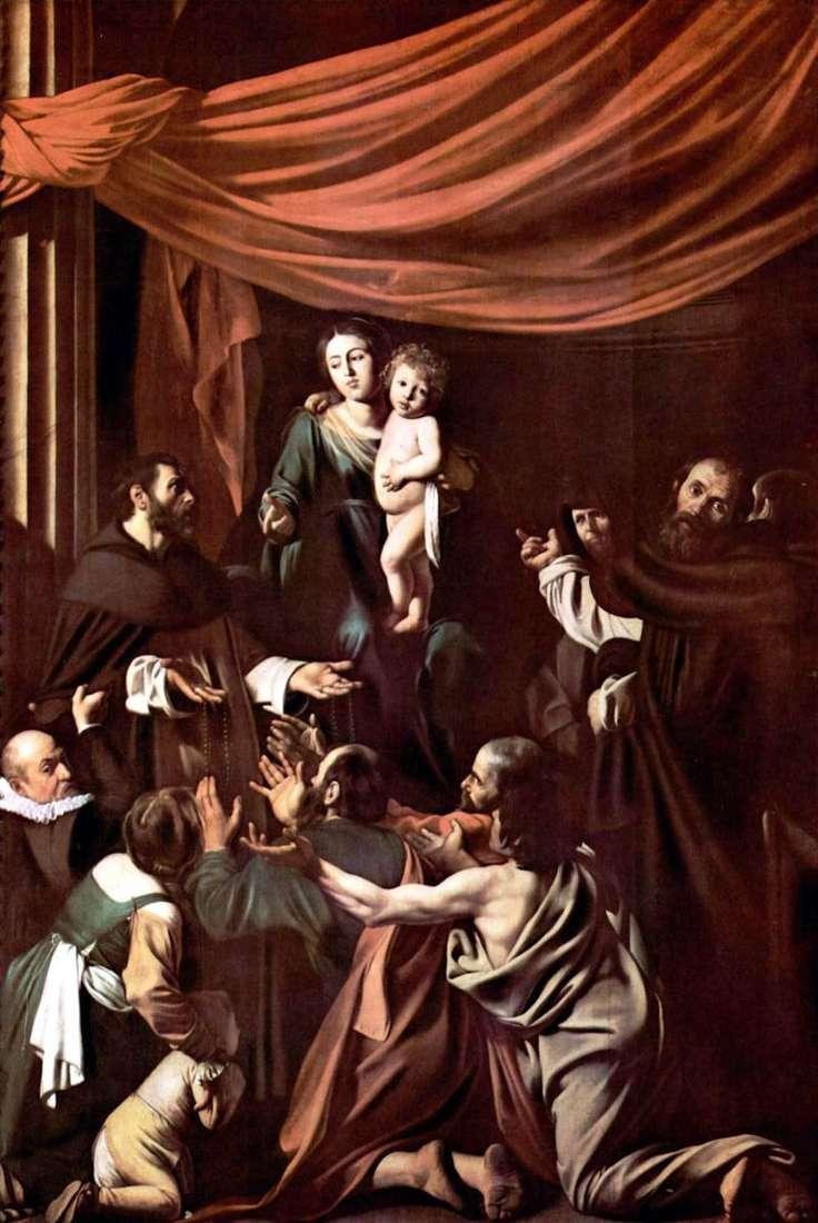 Madonna del Rosario by Michelangelo Merisi da Caravaggio