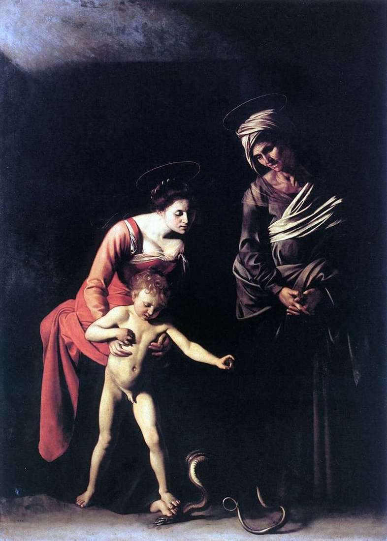Madonna with a snake by Michelangelo Merisi and Caravaggio