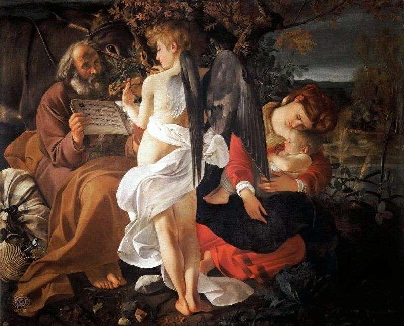 Rest on the way to Egypt by Michelangelo Merisi da Caravaggio
