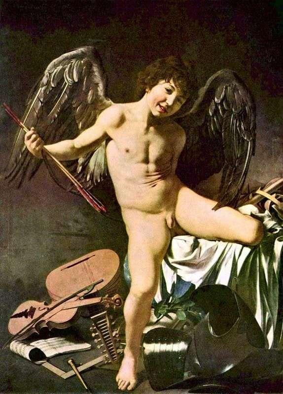 Cupid winner by Michelangelo Merisi da Caravaggio
