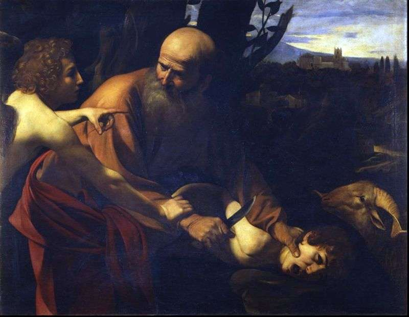 The sacrifice of Isaac by Michelangelo Merisi and Caravaggio