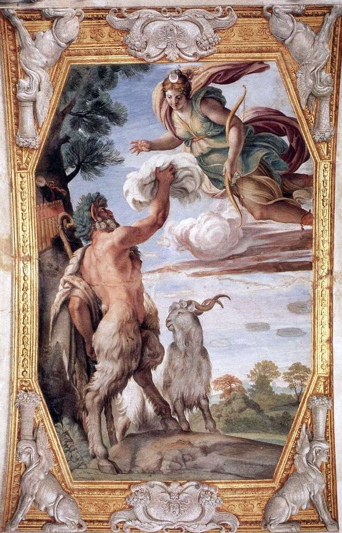 Respect for Diana by Annibale Carracci