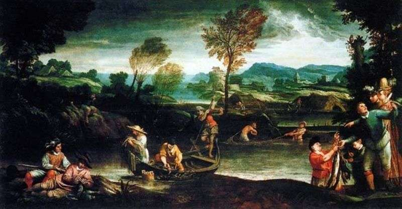Idyllic landscape by Annibale Carracci