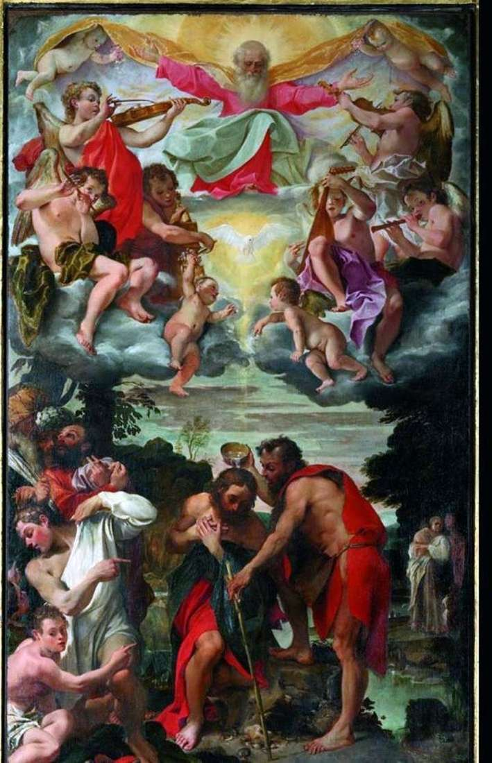 The Baptism of Christ by Annibale Carracci
