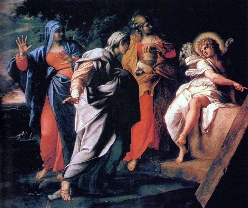 Three Marys at the grave of the Lord by Annibale Carracci