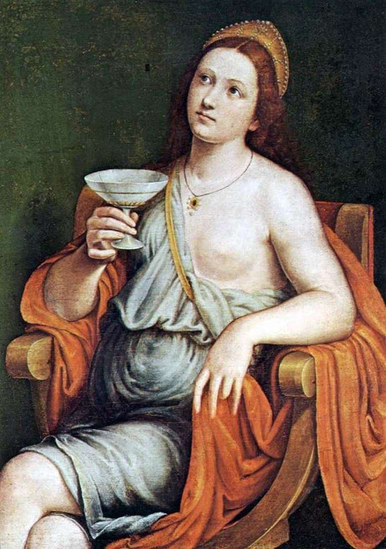 Sofonisba drinks poison by Giovanni Francesco Caroto