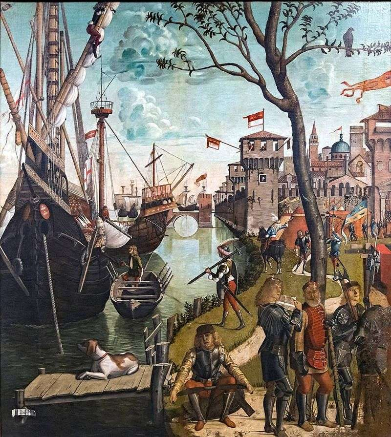 Arrival of Saint Ursula and pilgrims to Cologne by Vittore Carpaccio