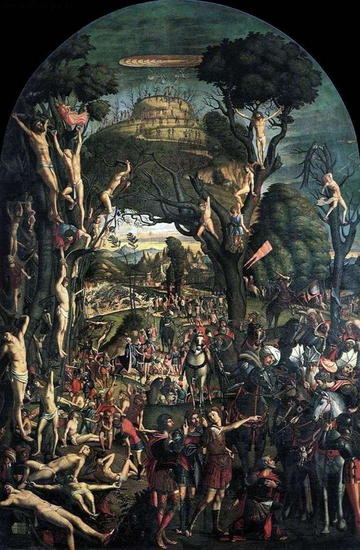 Crucifixion and mortification of ten thousand on Mount Ararat by Vittore Carpaccio