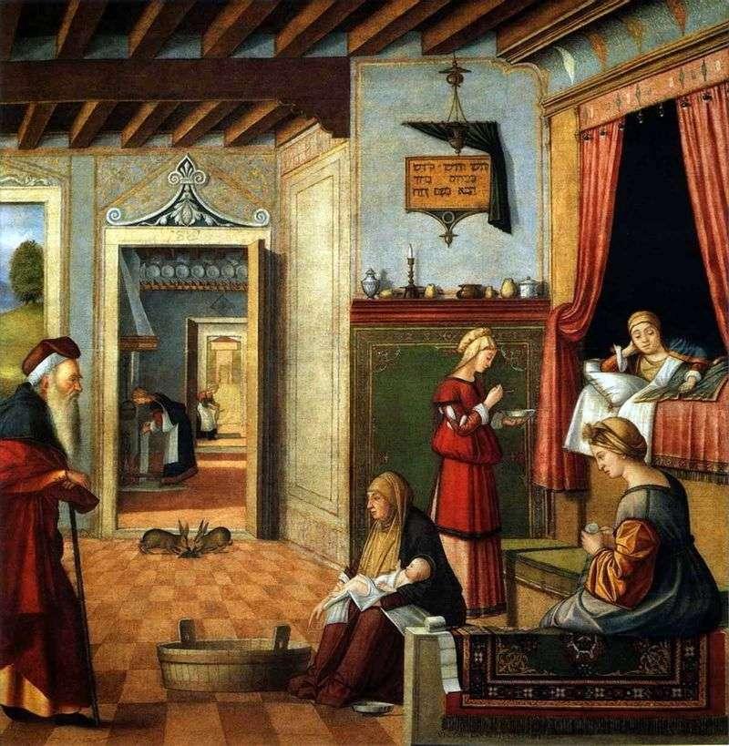 Birth of the Virgin Mary by Vittore Carpaccio