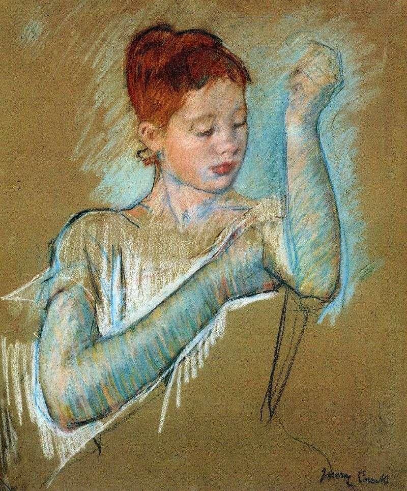 Long gloves by Mary Cassatt