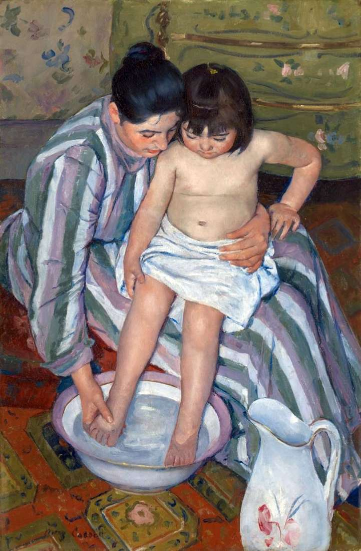 Bathing by Mary Cassatt