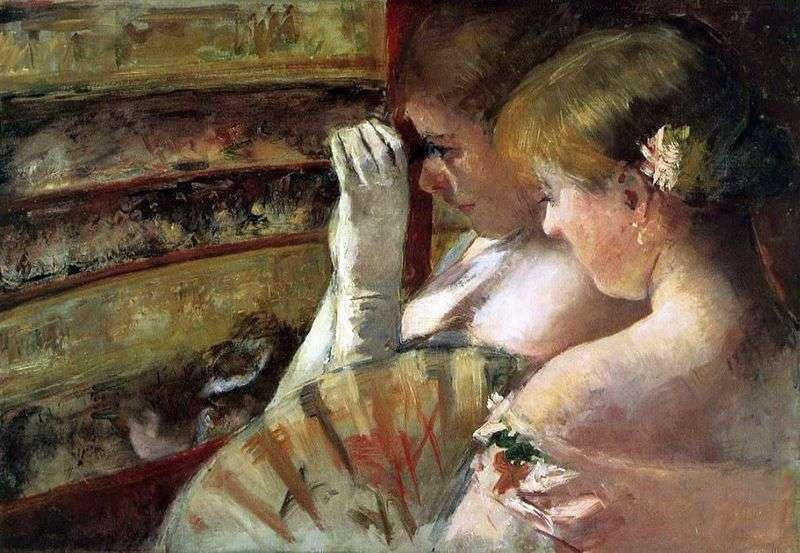 Young women in the box by Mary Cassatt