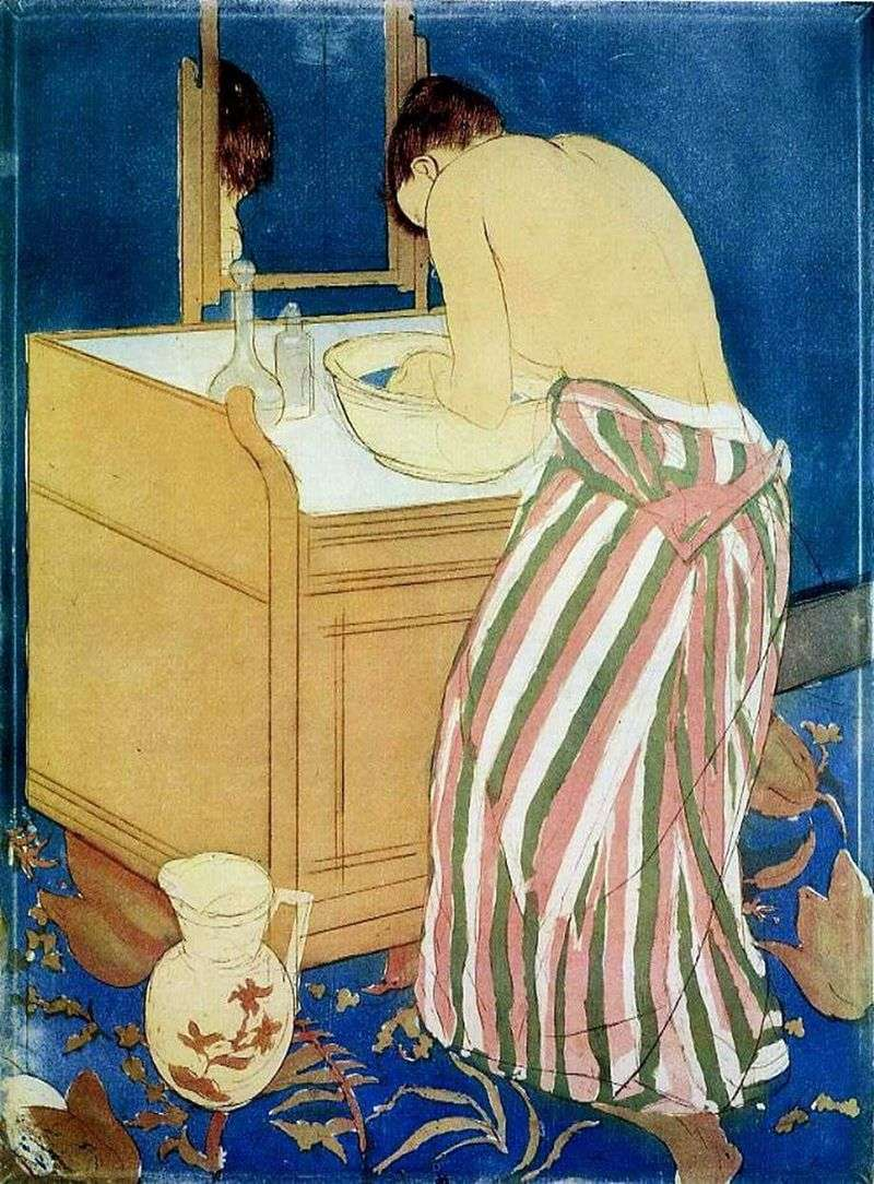 Washing woman by Mary Cassatt
