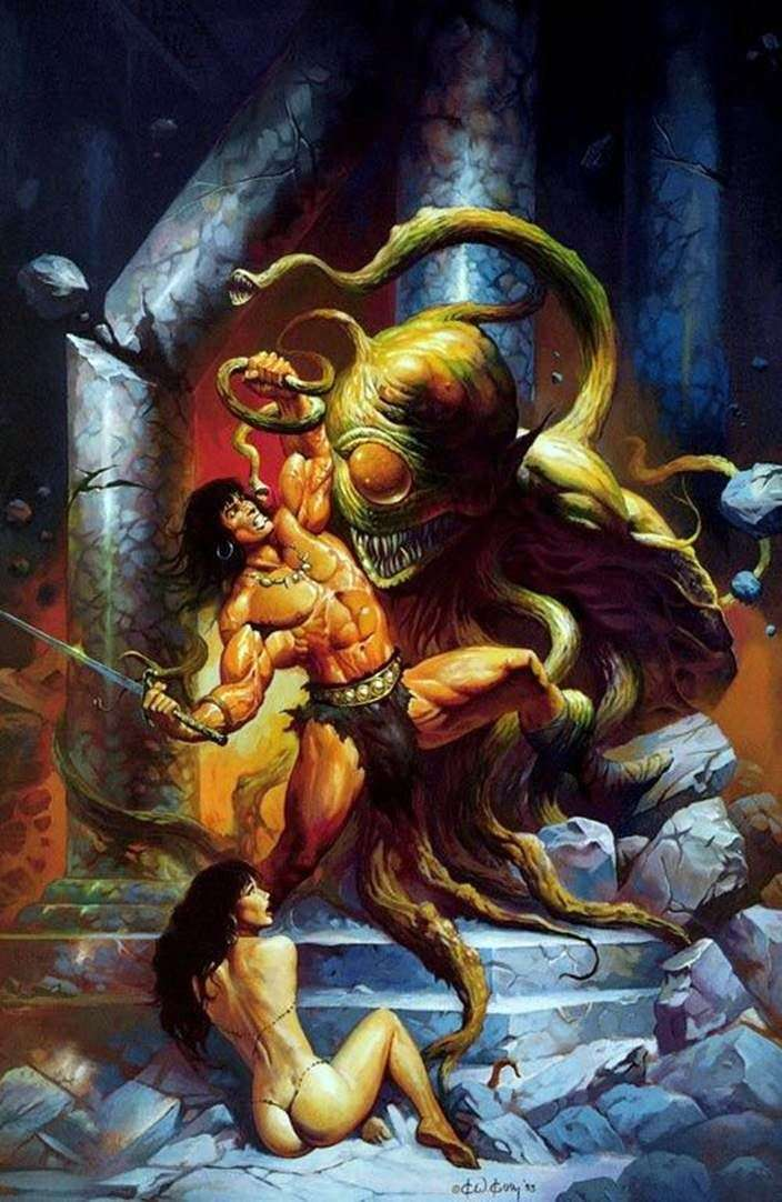 Conan and the Monster by Ken Kelly