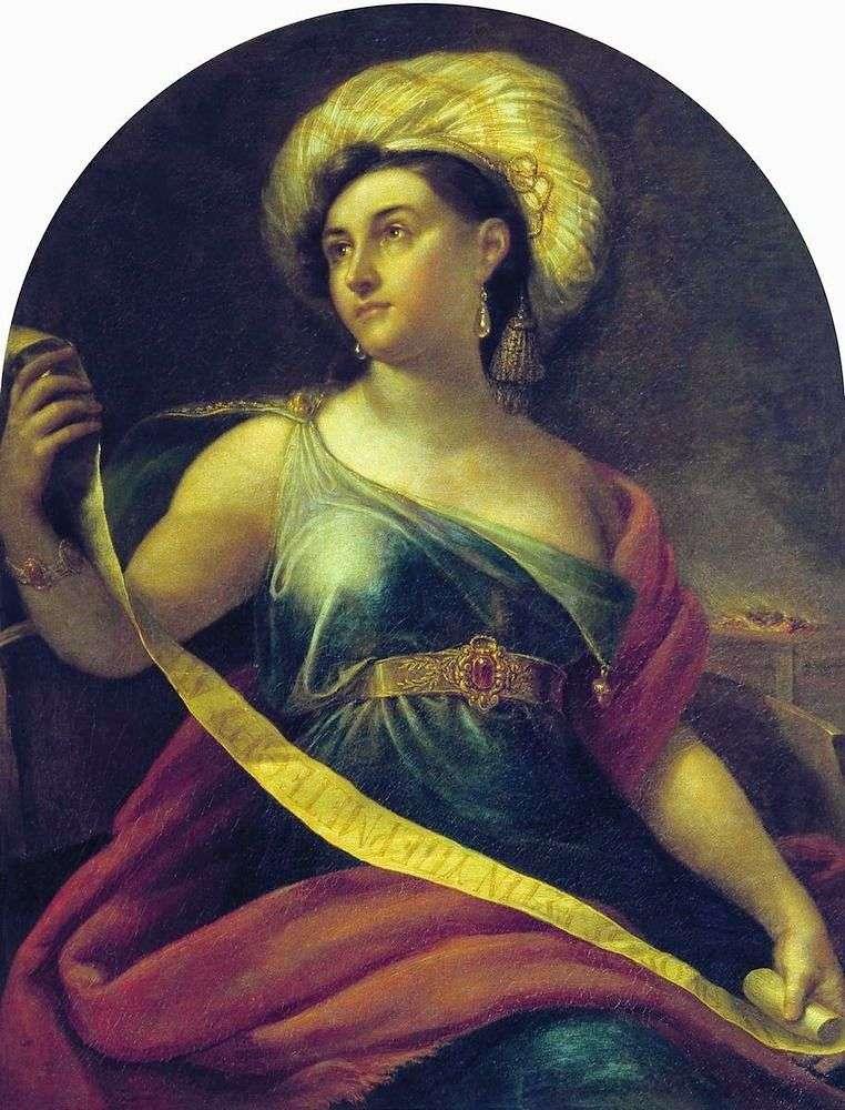 Portrait of N. S. Semenova by Orest of Kiprensky