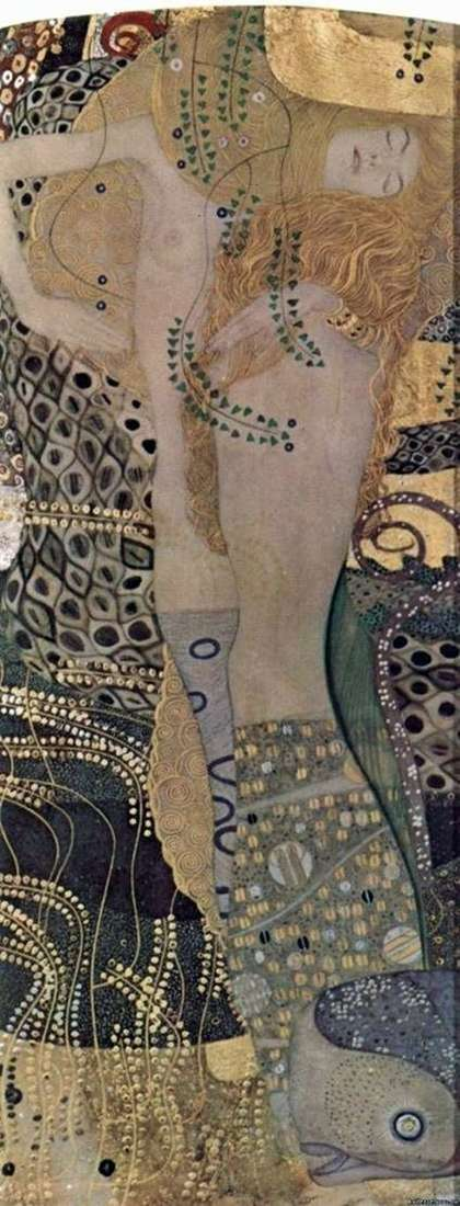 Water snakes by Gustav Klimt