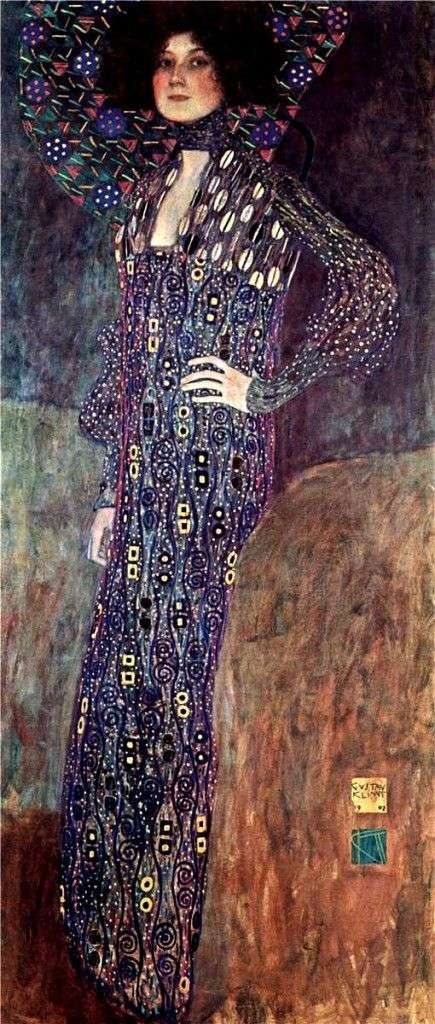 Portrait of Emilie Flege by Gustav Klimt