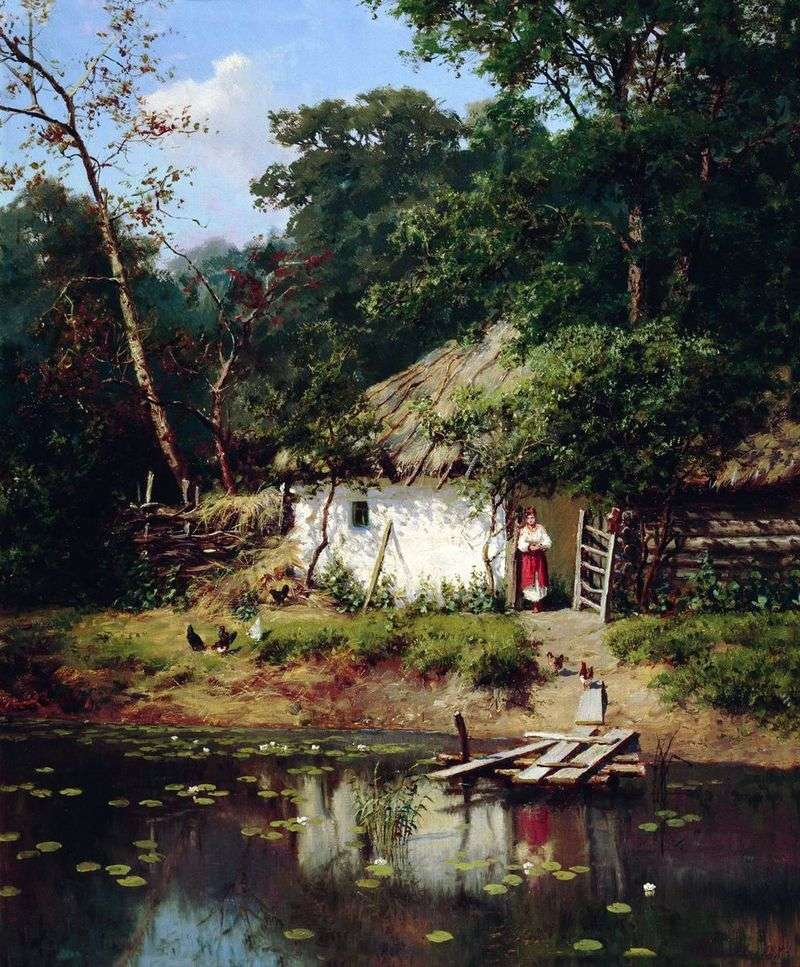 The Ukrainian hut by Alexander Kiselev