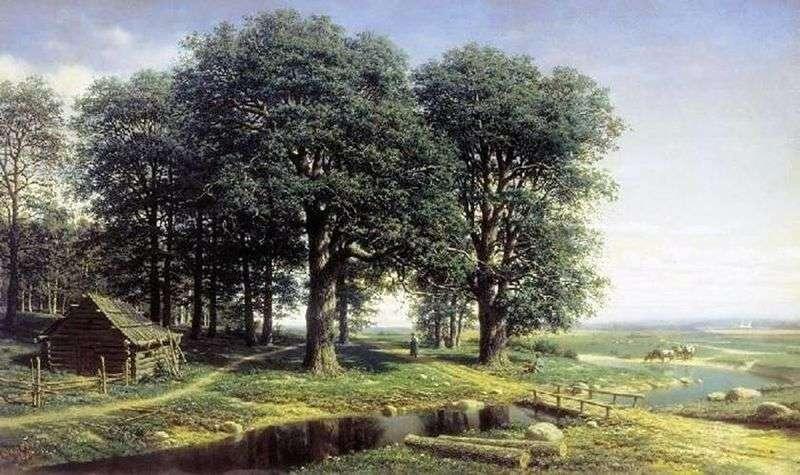 Oak Grove by Mikhail Konstantinovich Klodt