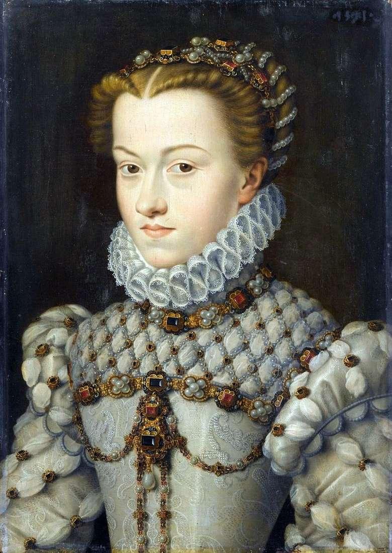 Princess Elizabeth of Austria by Francois Clouet