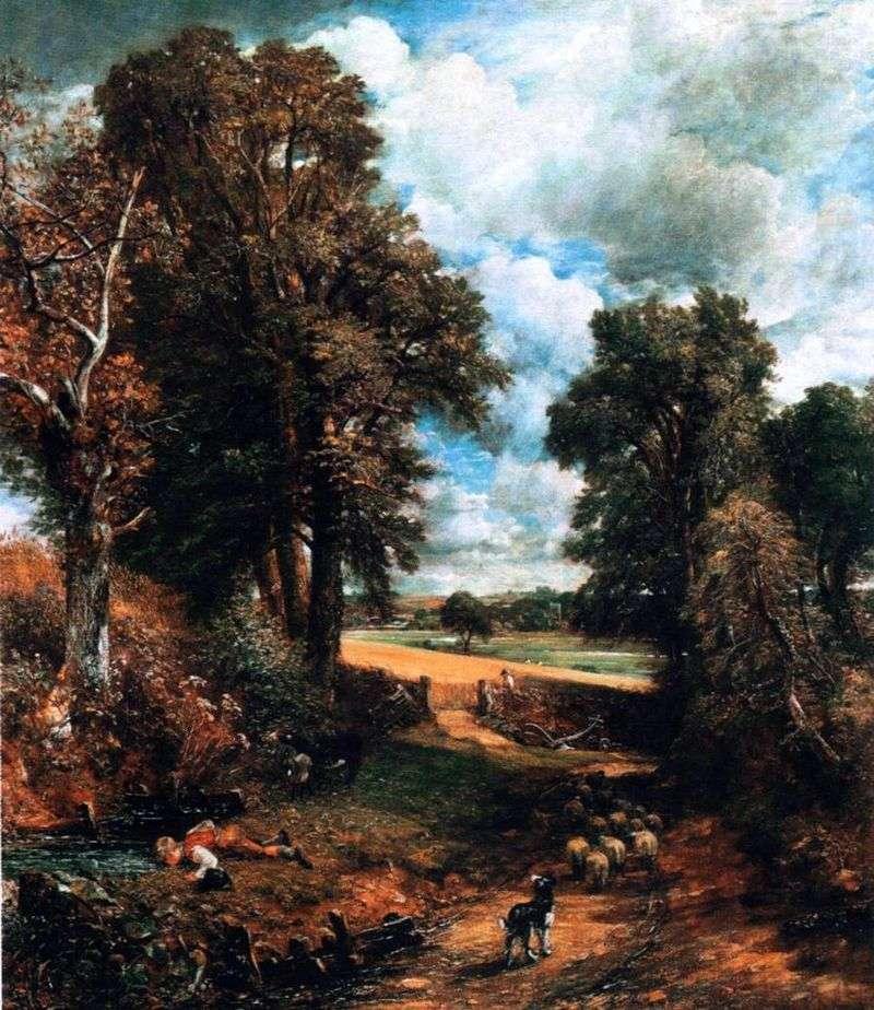 Corn field by John Constable