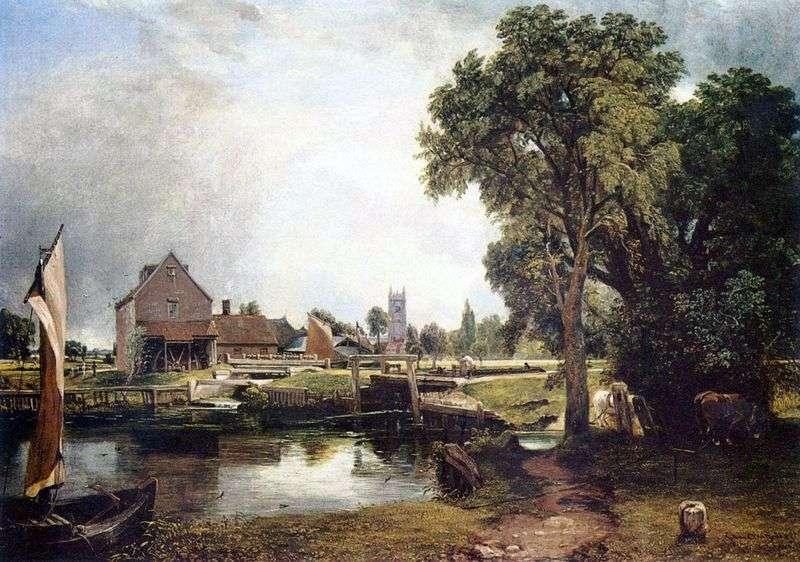 Mill in Dedham by John Constable