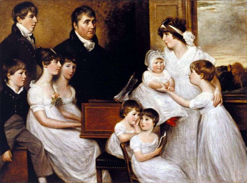 The Bridges family by John Constable