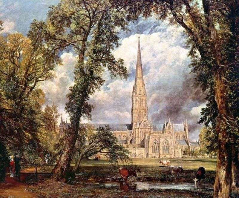 Cathedral in Salisbury by John Constable
