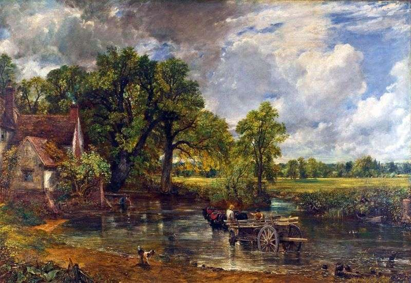 Cart for hay by John Constable