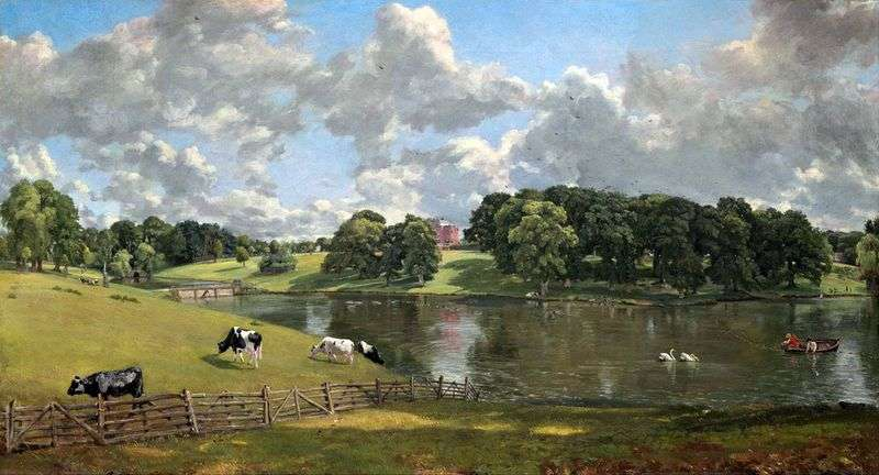 Wywenhou Park by John Constable